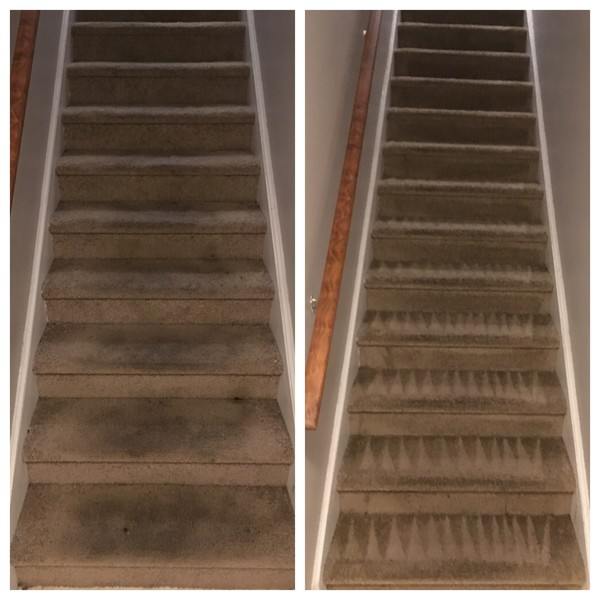 Before & After Stairs Cleaned in Charlotte, NC (1)